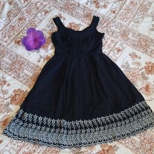 CAROLE LITTLE BLACK DRESS BEADED&EMBROIDERED